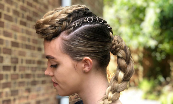 Aveda Artist Competition, Reinvent the norm, plaits, braids, stylist, hair up